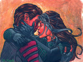 Rogue and Gambit by ssava