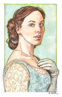 Downton Abbey Lady Sybil watercolor... by ssava