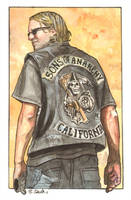 Sons of Anarchy Jax Teller Watercolor... by ssava