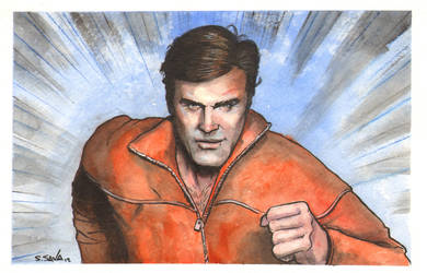 The Six Million Dollar Man Watercolor... by ssava