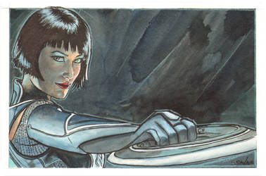 Quorra from Tron Watercolor... by ssava
