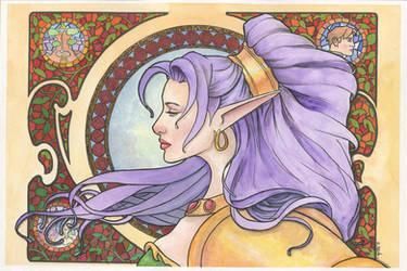 Nastajia Ashenheart Art Nouveau Watercolor... by ssava