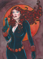 Marvel Avengers Black Widow Watercolor... by ssava