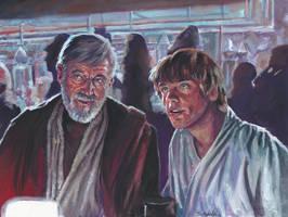 Star Wars Cantina Scene by ssava