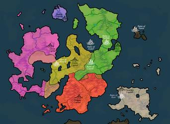 Dream Map: World (1100AE) by Darzall