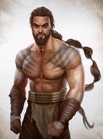 Game of thrones fan art - Khal Drogo by ynorka