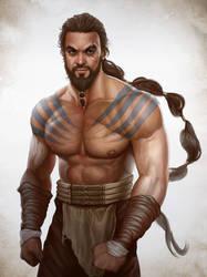 Game of thrones fan art - Khal Drogo by ynorka