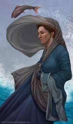 Game of thrones fan art - Catelyn by ynorka