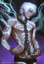 Fenris in chains by ynorka
