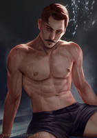 Dorian in sauna by ynorka