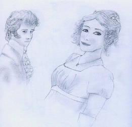 Pride and Prejudice Drawing by HollysHobbies