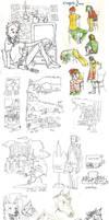 Sketch Dump II by Roihe