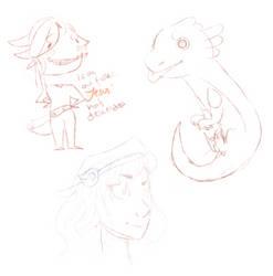 late night doodies by ProprietressAxolotl