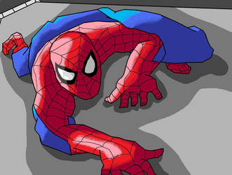 Wall-crawler(MS paint) by spideyxraefan