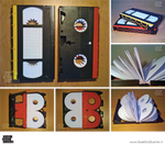 VHS-tape-books by BoekBindBoetiek