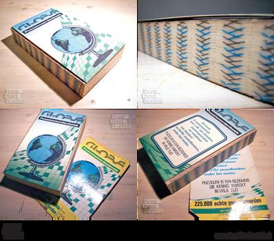 Globe Puzzle Dictionary Rebinding by BoekBindBoetiek