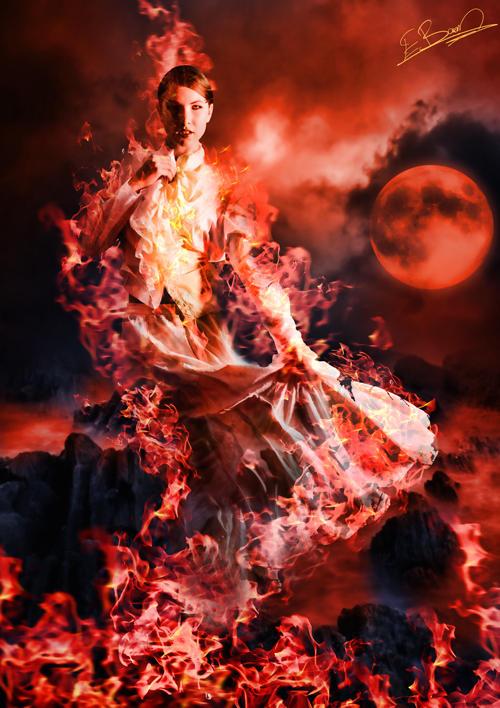 Queen of fire by EsatBaran