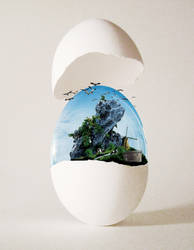 The Egg Of Mill by EsatBaran