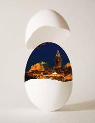 The Egg Of Galata by EsatBaran