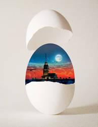 The Egg Of Kiz Kulesi by EsatBaran