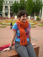 An orange scarf by KnotInTheCoffin