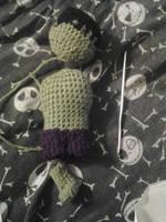 Tiny Hulk WIP by KnotInTheCoffin