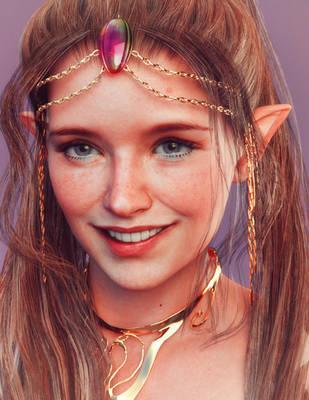 Smiling Elf by Kadaj777
