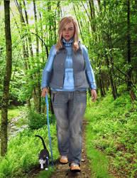 Danika Fitzgerald-Walking the trail with Danzig by Kadaj777