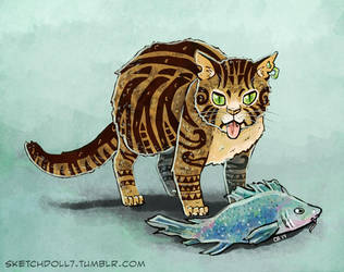 Maori Kitty by sketchdoll