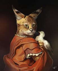 Fancy Serval by sketchdoll