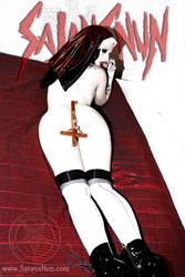 SatansNun Evil Crucifix Blasphemy by hellphoto