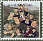 I'm a MASH fan! stamp by EglantineAlba