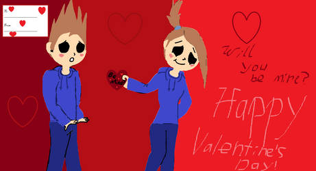 Will You Be Mine? EddsWorld/EllsWorld valentine by EglantineAlba