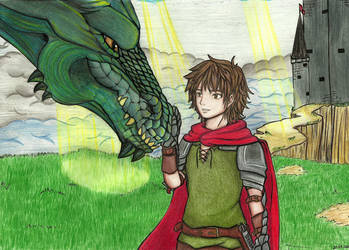 Dragon and Knight by Thaay7
