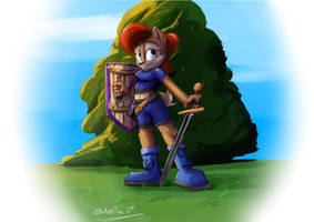Sally painting by Shieltar