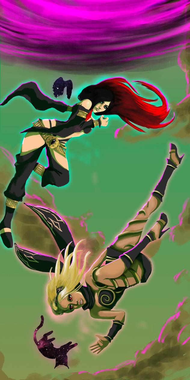 Gravity Rush - Kat and Raven by Wolfzero-kun