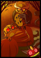 Noctowl and co: Owltober 25th by Buuya