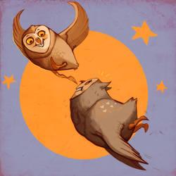 owlympic training by Buuya