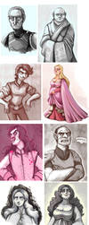a storm of sketches by Buuya