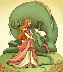 Girl and her Dragon by Buuya