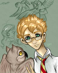 Percival and Hermes by Buuya