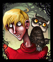 Ron and highly disturbed owl by Buuya