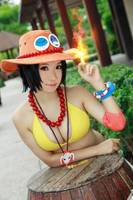 One Piece - Genderbent Ace by Xeno-Photography