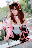 Overwatch Magical Girl - D.Va by Xeno-Photography