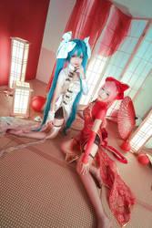 Vocaloid Canary - Miku x Luka by Xeno-Photography