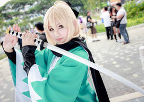 Fate/Grand Order - Saber Souji Okita by Xeno-Photography