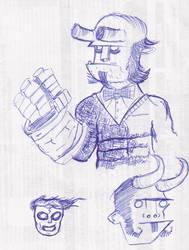 Hellboy doodle2 by hyperheroman
