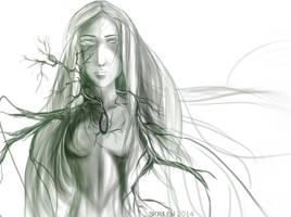 Forest elf by Skrilen