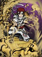 Gaara and Shukaku  x colored ver by ikotron