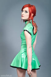 Kya in green latex II by TzR